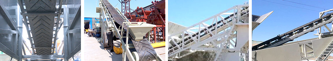 YHZS50 mobile concrete mixing plant Conveyor system