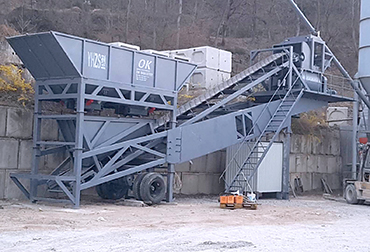 Korea YHZS50 Mobile concrete mixing plant