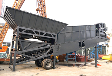 Shanxi YHZS50 Mobile concrete mixing plant