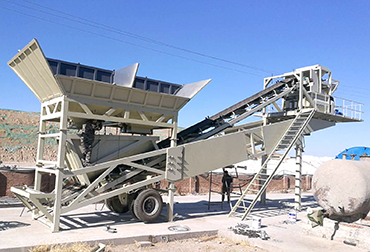 Changchun YHZS50 Mobile concrete mixing plant