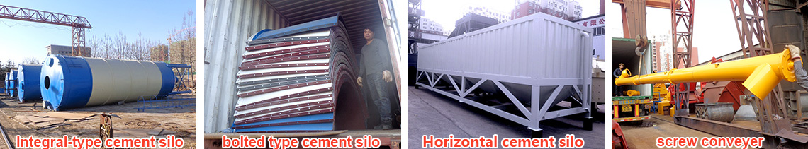 YHZS25 mobile concrete mixing plant Bolted cement silo