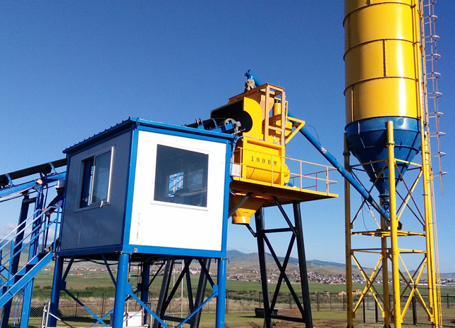 Jianxin 60 Concrete Mixing Station Was Successfully Put into Operation in Outer Mongolia
