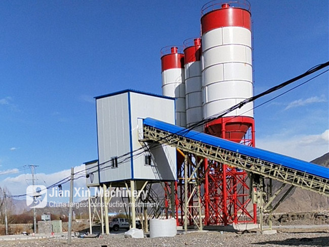 HZS75 Concrete Mixing Station start Installation and Commissioning in Kashifu County Xinjiang