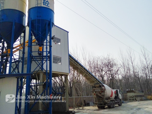 Installation and commissioning site of Yunnan Baoshan HZS90 concrete mixing plant
