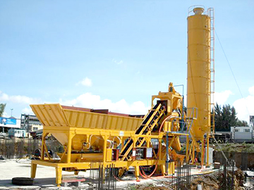 YHZS100 mobile concrete mixing plant