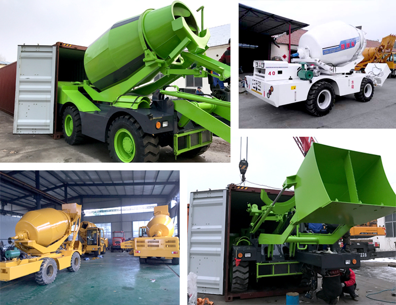 4 cubic meter self-loading mixer