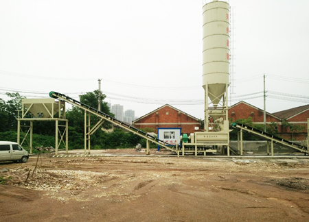 Hubei Huanggang WBZ600 Stabilized Soil Mixing Plant Was Put into Operation