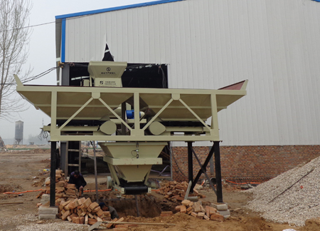 Application Case of Jianxin JS500 Small Concrete Mixer in Huozhou 25 Mixing Station in Shanxi